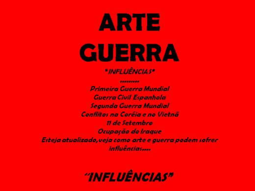 Curso Online de Arte Guerra,influências