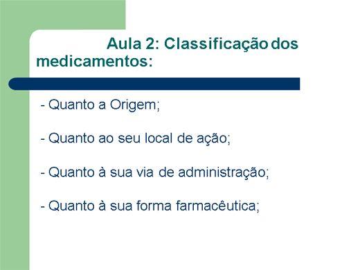 Curso Online de Classificação de Medicamentos