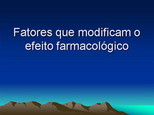 Curso Online de Fatores que Modifica o Efeito Terapêutico