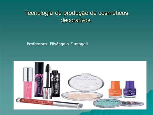 Curso Online de Cosmeticos Decorativos