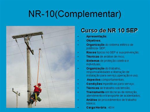 Curso Online de NR-10(Complementar)