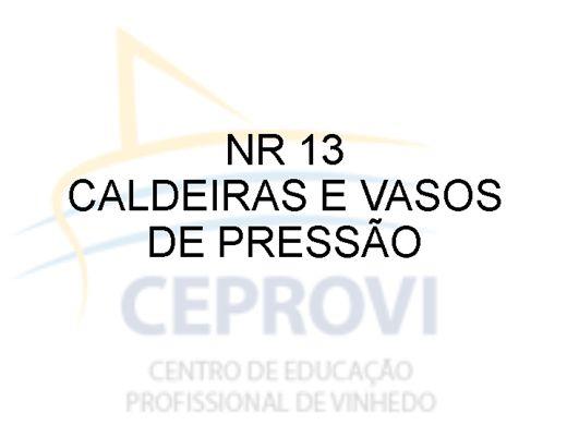 Curso Online de NR 13