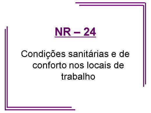 Curso Online de NR 24