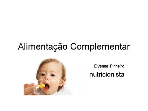 Curso Online de alimentação complementar na primeira infancia