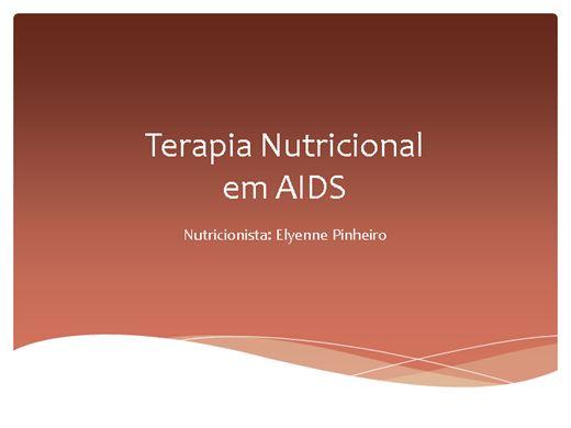 Curso Online de TERAPIA NUTRICIONAL EM AIDS