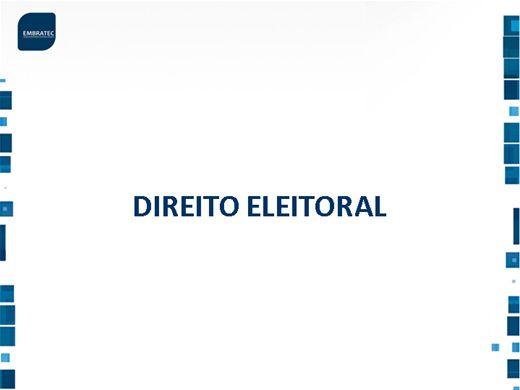 Curso Online de Fases do Processo Eleitoral e Sistema Eletrônico de Votação