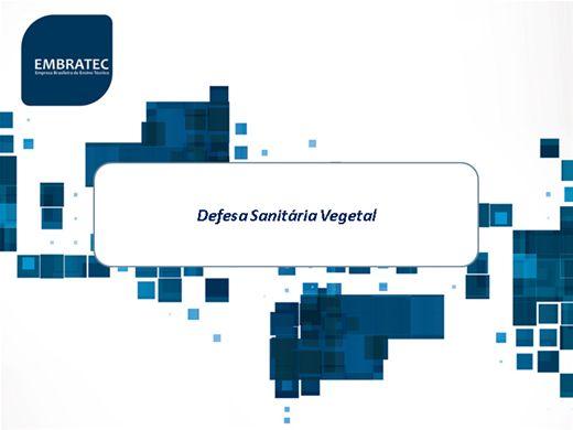 Curso Online de Defesa Sanitária Vegetal