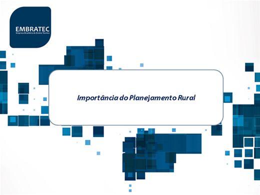 Curso Online de Importância do Planejamento Rural