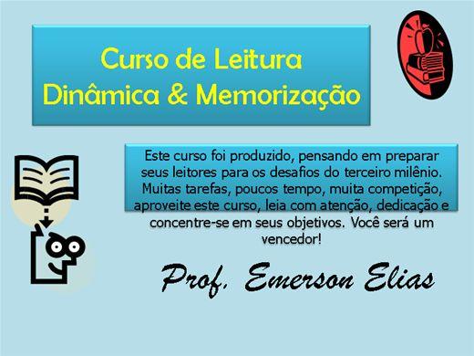 Curso Online de Curso de Leitura Dinâmica & Memorização