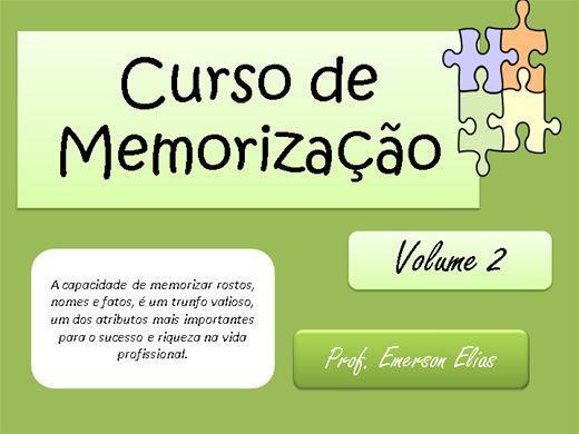 Curso Online de Curso de Memorização Vol 2