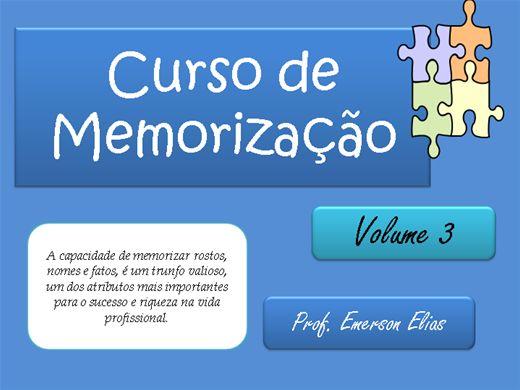 Curso Online de Curso de Memorização - Vol 3