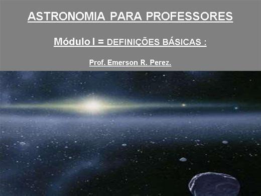 Curso Online de Astronomia para professores ensino fundamental