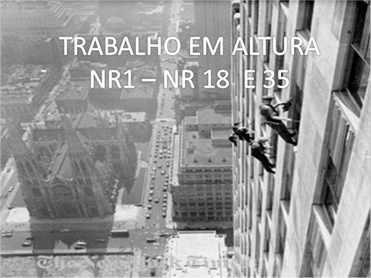 Curso Online de CAPACITAÇÃO PARA TRABALHO EM ALTURA NRS 01,18 e 35