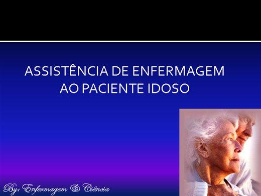 Curso Online de Assistência de Enfermagem ao Paciente Idoso