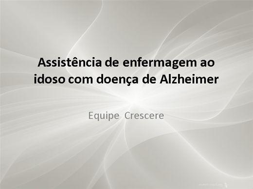 Curso Online de Assistência de Enfermagem ao Idoso Portador de Alzhimer