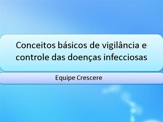 Curso Online de Vigilância Epidemiológica e Doenças Infecciosas