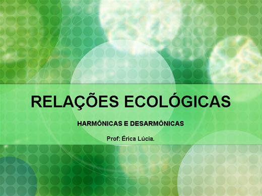 Curso Online de Relações Ecológicas.