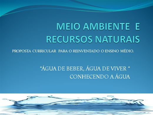 Curso Online de Meio Ambiente e Recursos Naturais/Conhecendo a Água.