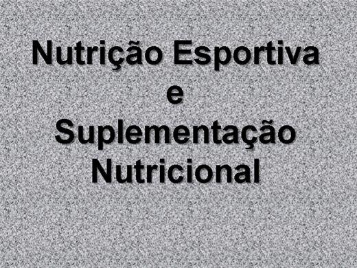 Curso nutricao esportiva