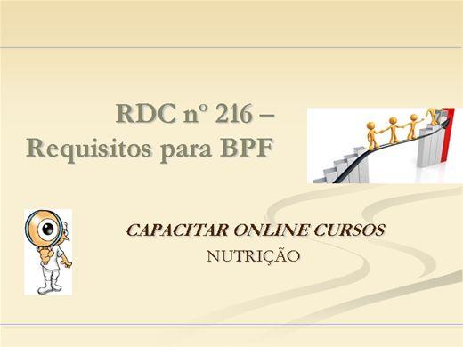 Curso Online de RDC 216 - Requisitos para boas praticas de fabricação BPF