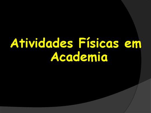 Curso Online de ATIVIDADES FÍSICAS EM ACADEMIAS