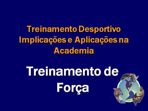 Curso Online de TREINAMENTO DE FORÇA