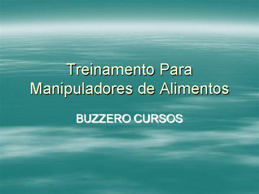 Curso Online de TREINAMENTO PARA MANIPULADORES DE ALIMENTOS