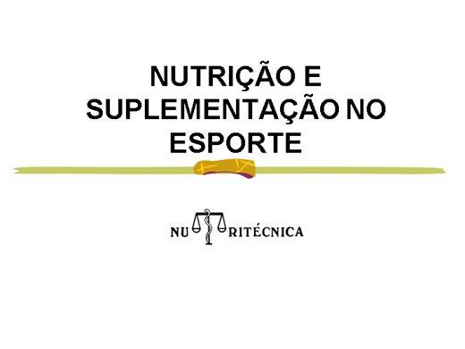 Curso Online de SUPLEMENTAÇÃO ESPORTIVA