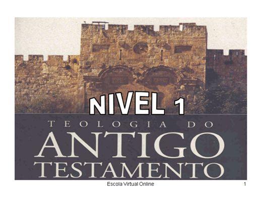 Curso Online de TEOLOGIA DO ANTIGO TESTAMENTO - NIVEL 1