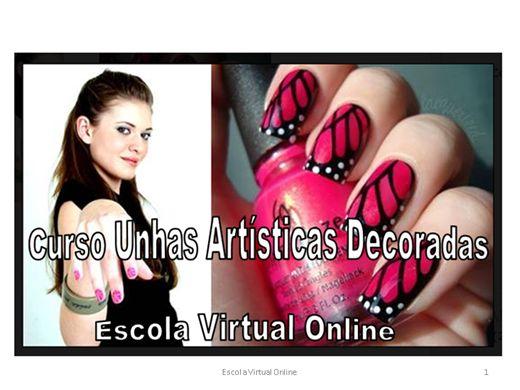 Curso Online de CURSO UNHAS ARTÍSTICAS DECORADAS
