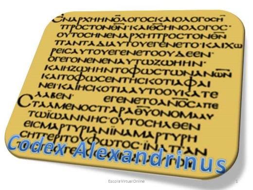 Curso Online de CODEX ALEXANDRINUS