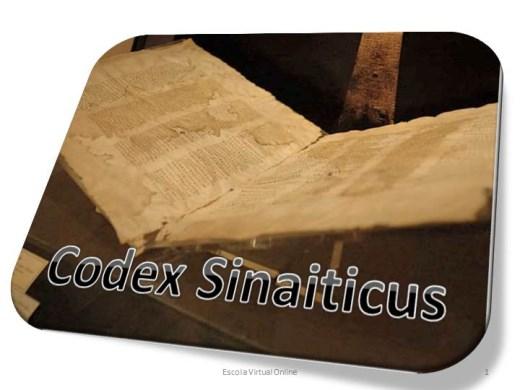 Curso Online de CODEX SINAITICUS