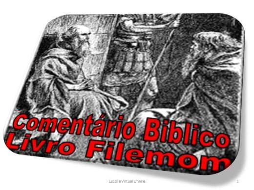 Curso Online de CONHECIMENTO BIBLICO LIVRO FILEMOM