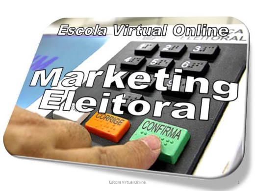 Curso Online de MARKETING ELEITORAL - EXPERT 1