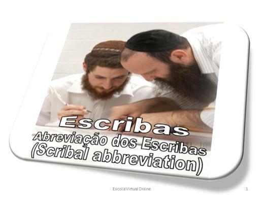 Curso Online de ESCRIBAS - ABREVIAÇÃO DOS ESCRIBAS (SCRIBAL ABBREVIATION)