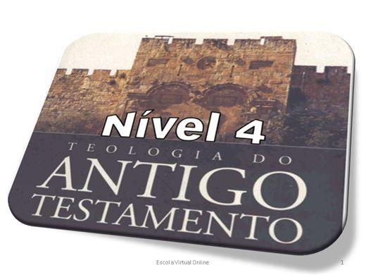 Curso Online de TEOLOGIA DO ANTIGO TESTAMENTO - NÍVEL 4