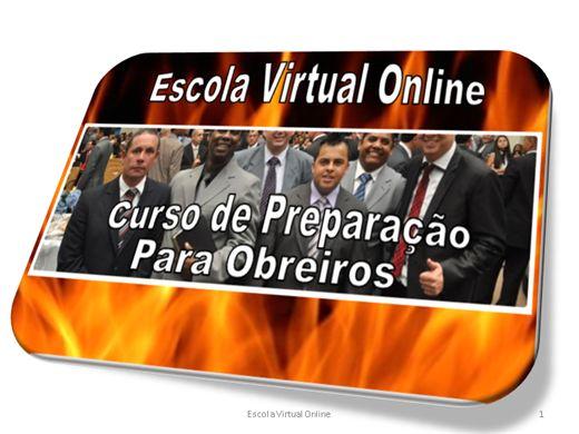 Curso Online de CURSO DE PREPARAÇÃO PARA OBREIROS