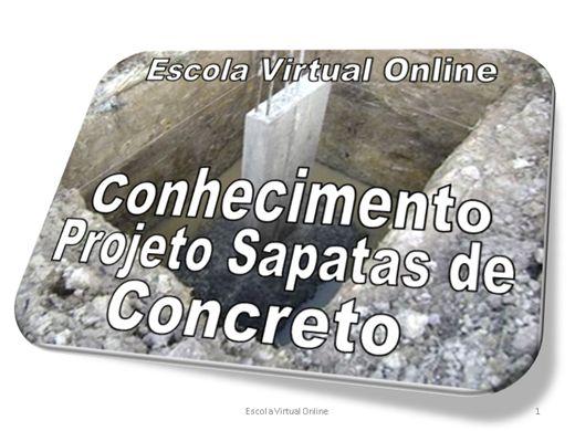 Curso Online de CONHECIMENTO PROJETO SAPATAS DE CONCRETO