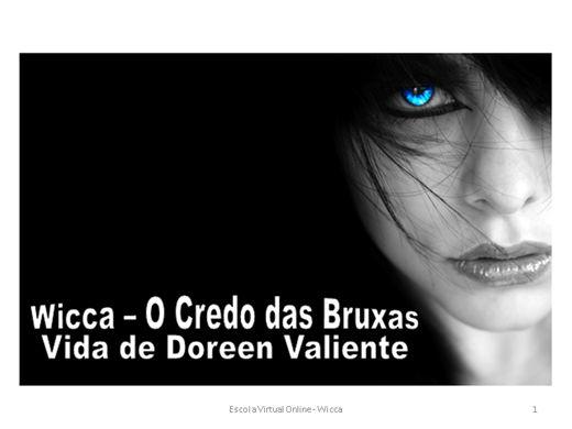 Curso Online de WICCA - O CREDO DAS BRUXAS - DOREEN VALIENTE