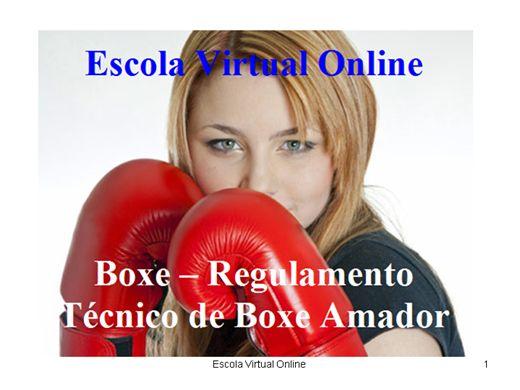 Curso Online de BOXE - REGULAMENTO TÉCNICO DE BOXE AMADOR