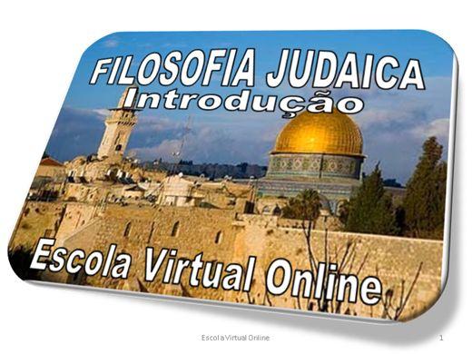 Curso Online de FILOSOFIA JUDAICA - INTRODUÇÃO