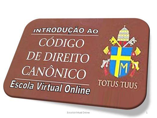 Curso Online de INTRODUÇÃO AO CÓDIGO DE DIREITO CANÔNICO