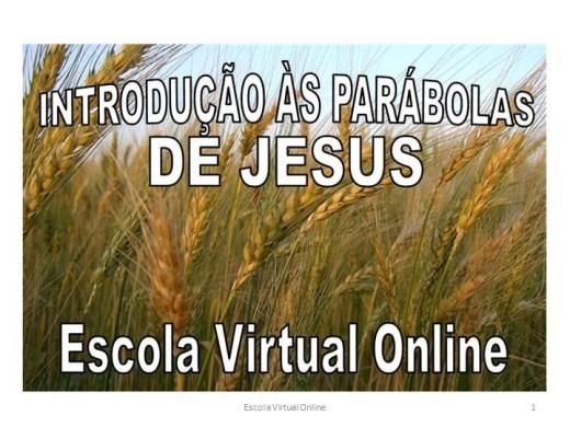 Curso Online de INTRODUÇÃO ÀS PARÁBOLAS DE JESUS