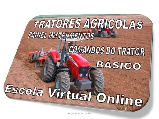 Curso Online de TRATORES AGRÍCOLAS: PAINEL INSTRUMENTOS - COMANDOS DO TRATOR
