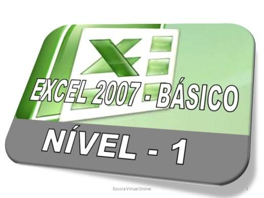 Curso Online de EXCEL 2007 - BÁSICO - NÍVEL 1