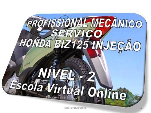Curso Online de PROFISSIONAL MECANICO - SERVIÇO - HONDA BIZ125 INJEÇÃO - NÍVEL-2