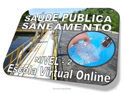Curso Online de SAÚDE PÚBLICA - SANEAMENTO - NÍVEL 2