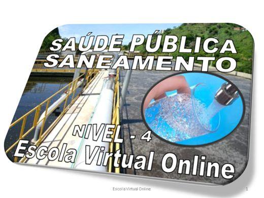 Curso Online de SAÚDE PÚBLICA - SANEAMENTO - NÍVEL 4