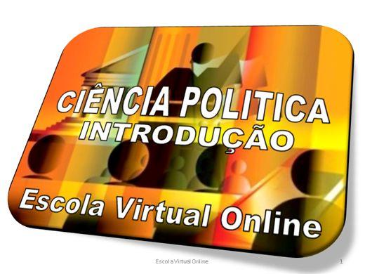 Curso Online de CIÊNCIA POLÍTICA - INTRODUÇÃO