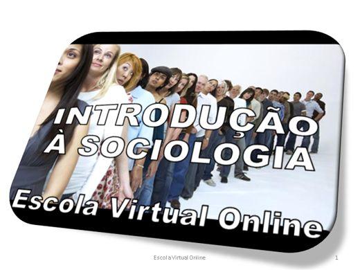 Curso Online de SOCIOLOGIA - INTRODUÇÃO